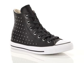 check out 50c2c 9b2e3 Converse Chuck Taylor All Star High Leather Studs Black Female 561682C
