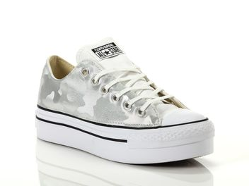 7341311efd Converse Chuck Taylor All Star Platform Ox White Female 560452C